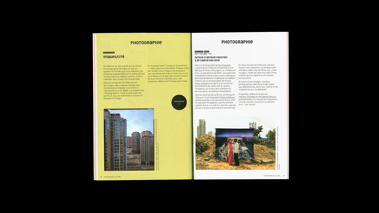 Studio Fire Work, Cité de l'architecture et du patrimoine de Paris, images/cité, édition