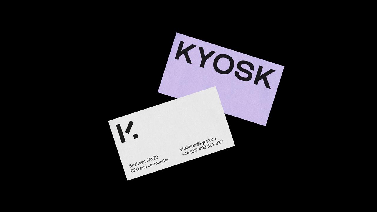 Studio Fire Work, projet Kyosk, cartes de visite