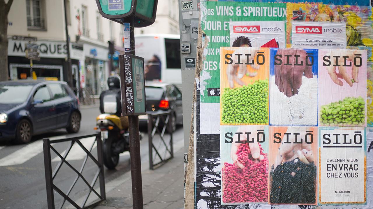 Studio Fire Work, Projet Silo, le vrac à domicile, école Estienne, Campagne de communication
