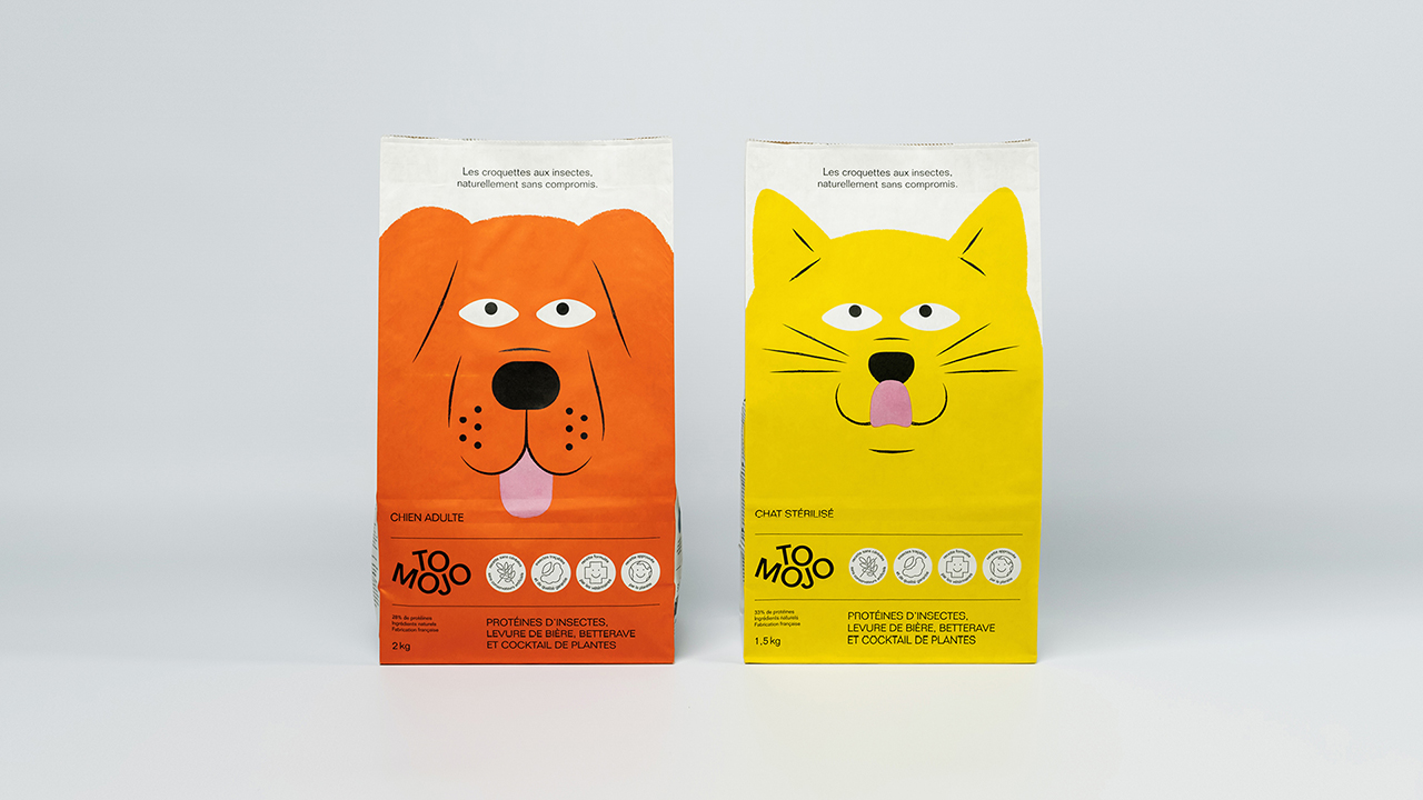 Studio Fire Work, projet croquettes écologiques Tomojo, Packaging
